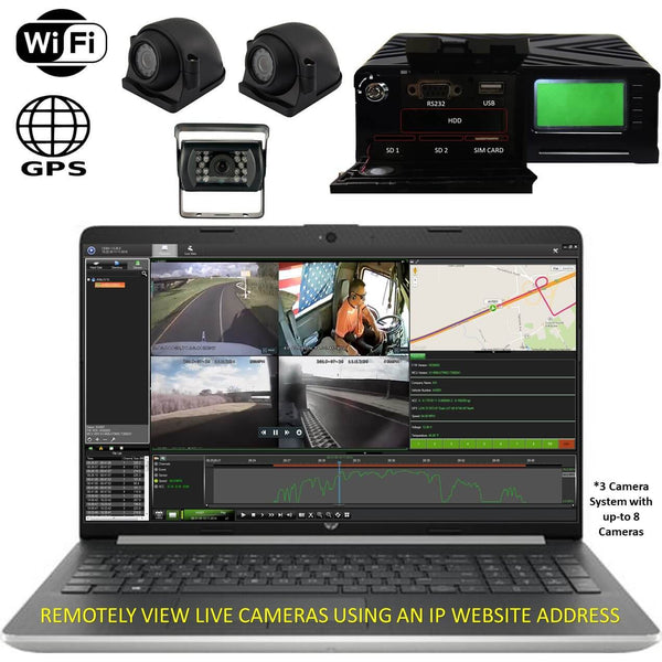 4G MNVR 3-8 Cam DVR System with Live Streaming, GPS, WIFI & More