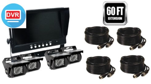 "TD WIRED 2-4 Camera System with 9"" LCD/DVR! Heavy Duty System, Up to 4 Cams!"