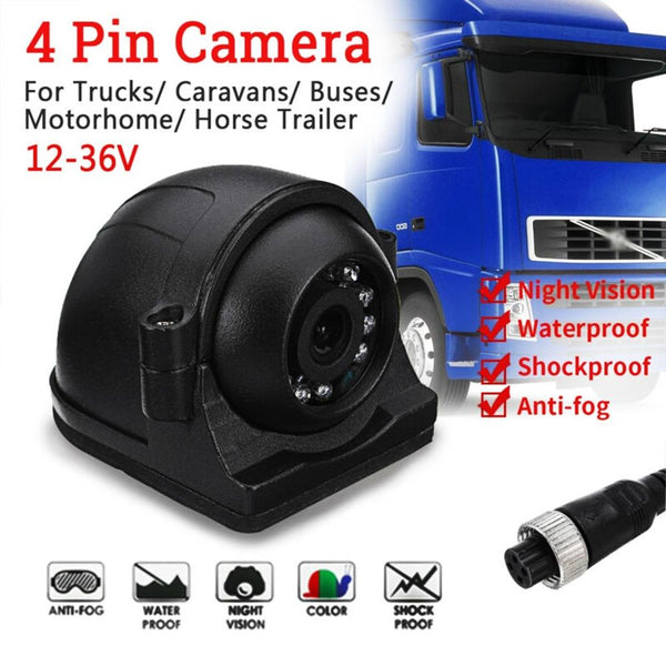 1080P Aerodynamic Side View Mount Cam with IR lights & 30' Cable