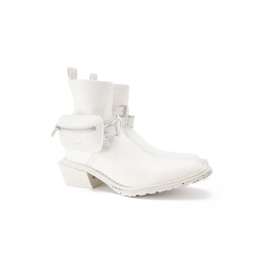untitled #13 Hitch Boots(Shiny Off White)