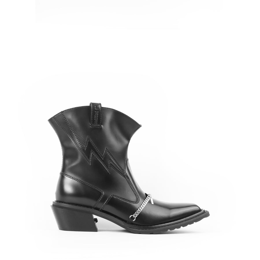 untitled #13 Versatile Cowboy Boots(Black)