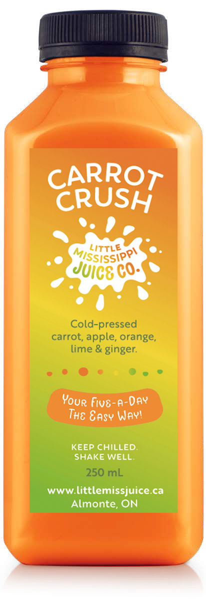 Carrot crush Juice - freshly made - minimum order applies