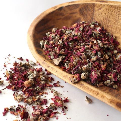 dried roses - Esoteric Odyssey - loose incense blends - aromatherapy healing