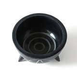 Pentacle Carved Black Soapstone Bowl - Smudge Pot