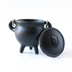 Cast Iron Cauldron w/Handle & Lid ~ Plain Design