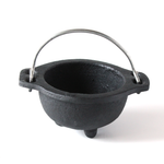 Cast Iron Cauldron w/Handle ~ Plain Design ~ Smudge Pot