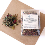 Deep Within Loose Incense Blend 1 oz ~ Biodegradable Packaging