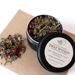 Deep Within Loose Incense Blend 1 oz ~ Black Screw Top Tin