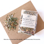 Sacred Seven Loose Incense Blend ~ 1 oz. ~ Biodegradable Packaging