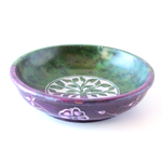 Tree of Life Colored Soapstone Bowl ~ Smudge pot ~ Charcoal & Incense Burner