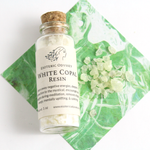 White Copal Resin ~ 1oz Glass Bottle w/Cork