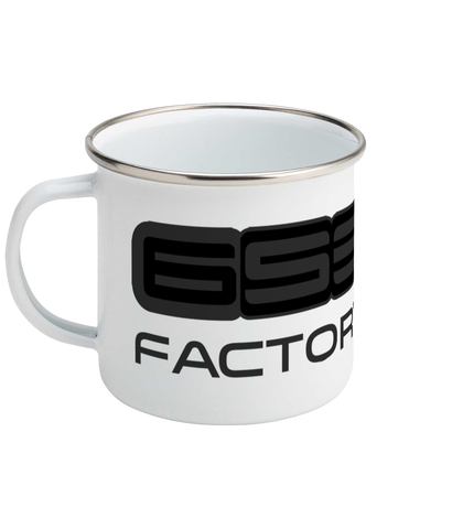 'Factory Racing' Enamel Mug