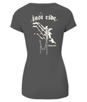 Women's 'Just Ride' Slim-Fit T-Shirt