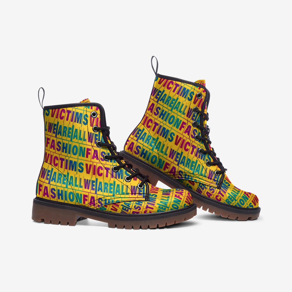 We are All fashion victims Colorful boots - BIZARRE FASHIONS