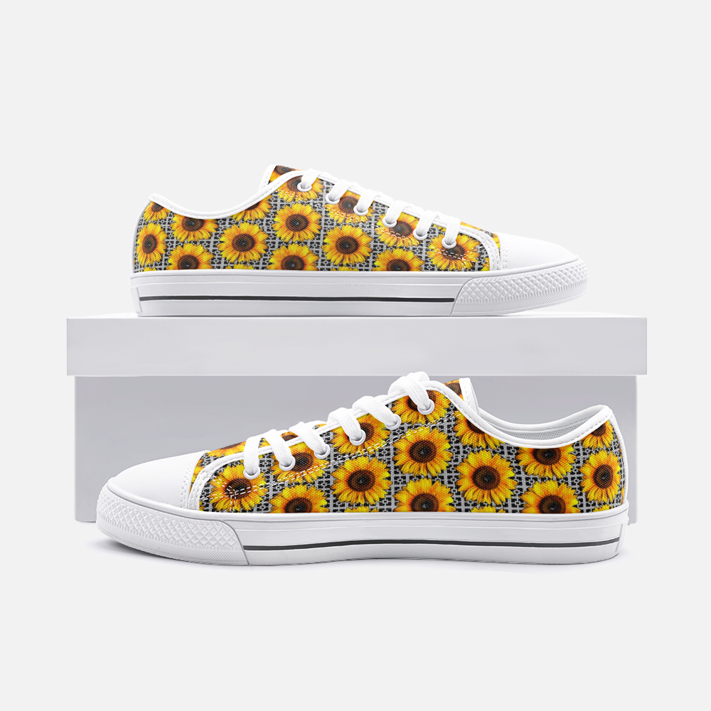 Sunflower Shoes Yellow Cute Shoes, Comfortable Sunflower Unisex  Shoes - BIZARRE FASHIONS