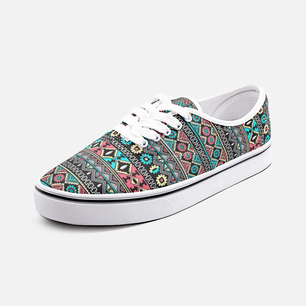Tribal Pattern, Tribal Boho Loafer Sneakers - BIZARRE FASHIONS