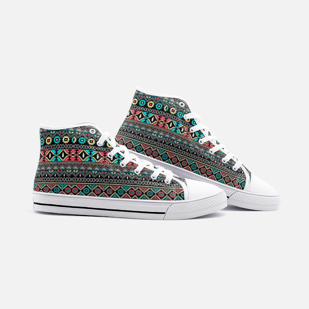 Tribal Pattern High Top Tribal Boho Shoes - BIZARRE FASHIONS