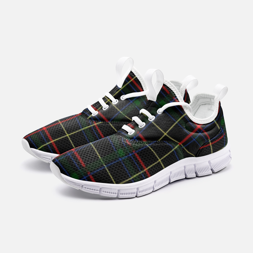 Multicolored lined Plaid Sneaker City Runner - BIZARRE FASHIONS