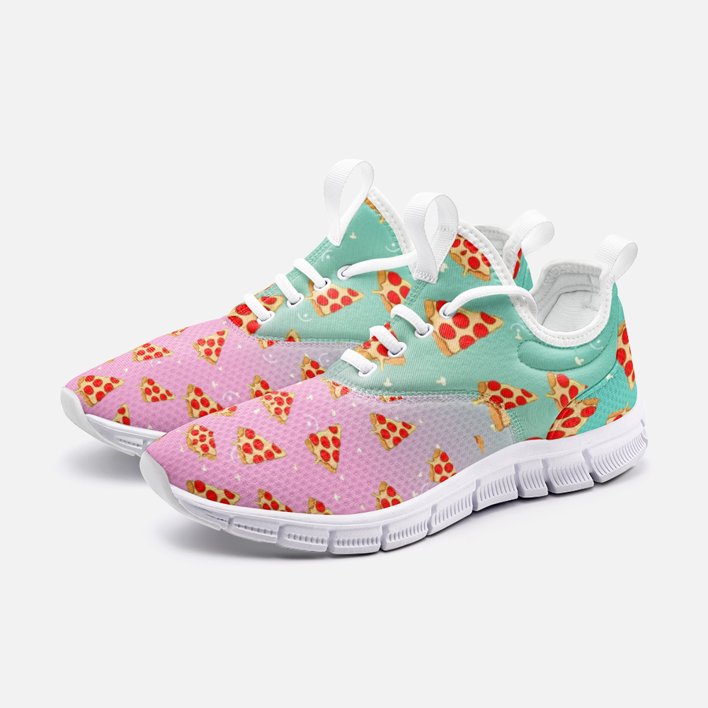Rainbow Pizza Shoes, Pizza Sneakers, Pizza Women Shoes, Pizza Kid Shoes, Shoes With Pizza - BIZARRE FASHIONS