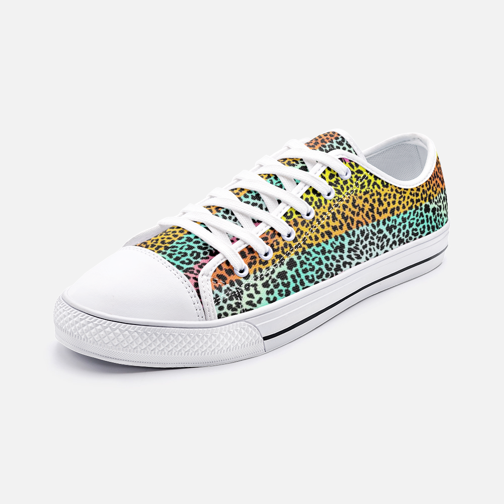 Multi color Panther Canvas Shoes - BIZARRE FASHIONS