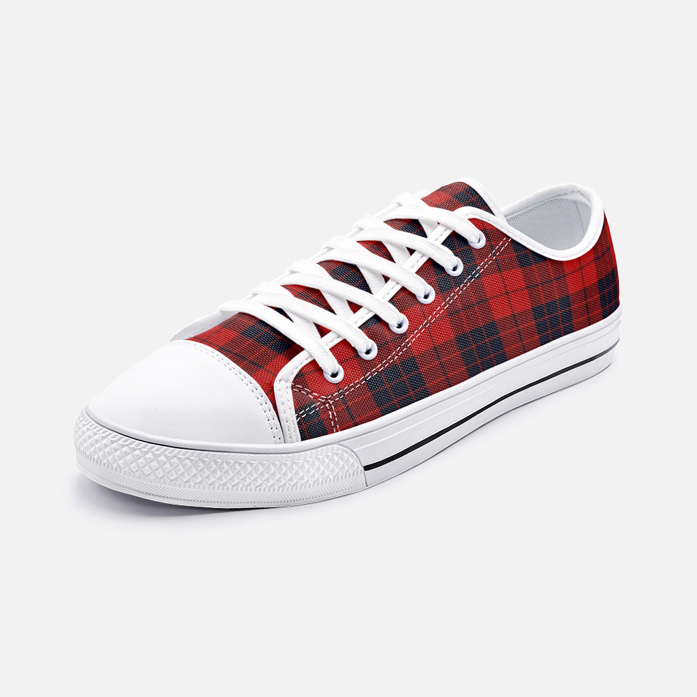 Red and black plaid Canvas Shoes - BIZARRE FASHIONS