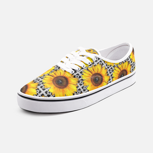 Sunflower Shoes Yellow Cute Shoes, Comfortable Sunflower Unisex Fashion Sneakers - BIZARRE FASHIONS