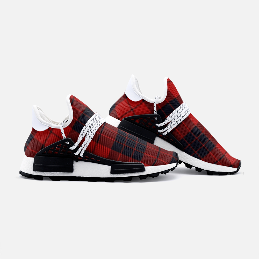 Red and black plaid Lightweight Sneaker - BIZARRE FASHIONS