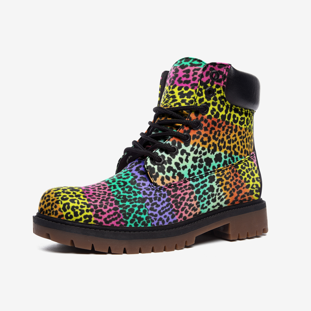 Casual Multi color Panther boots - BIZARRE FASHIONS