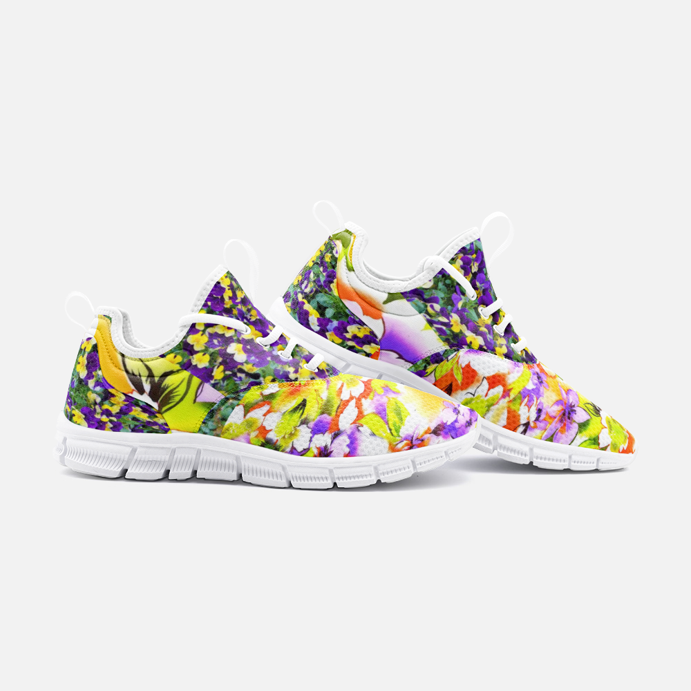 Floral print running shoes City Runner - BIZARRE FASHIONS