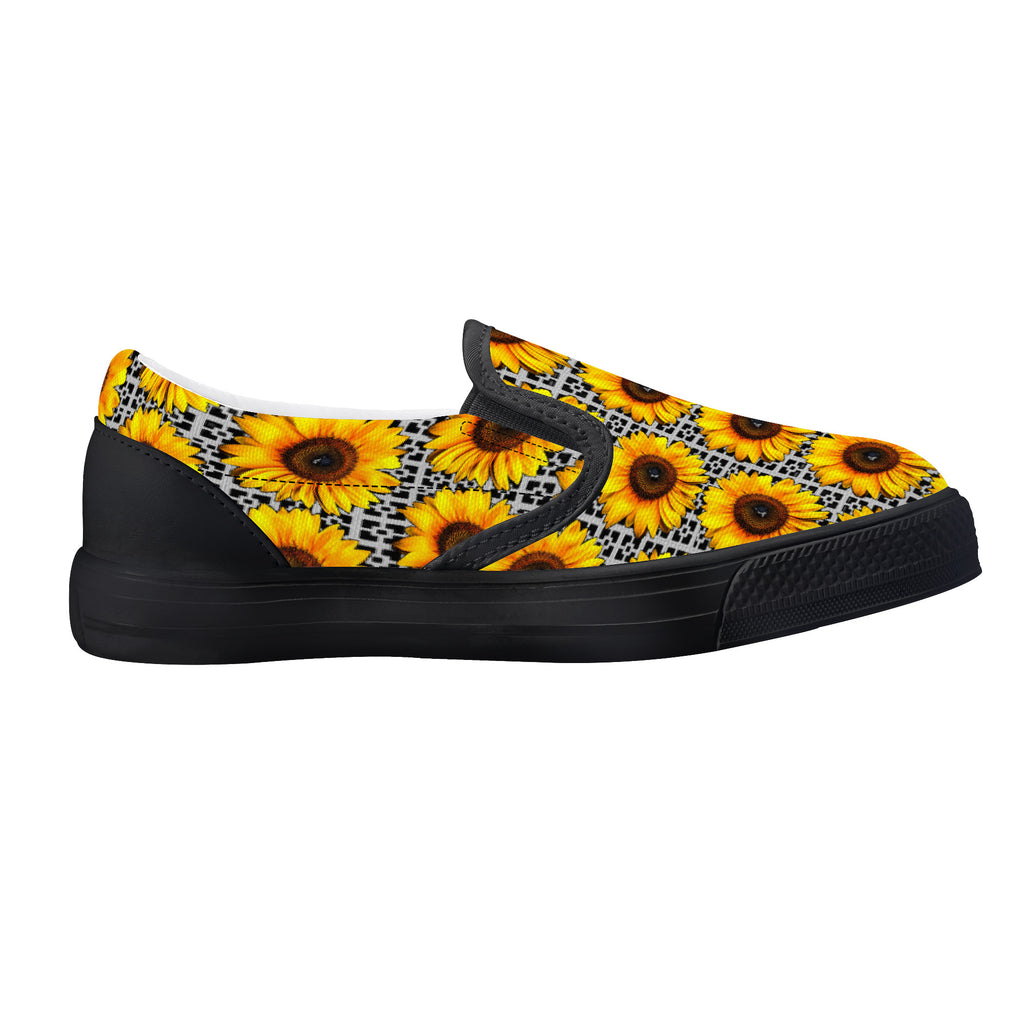 Sunflowers Kids Slip-on shoes - BIZARRE FASHIONS
