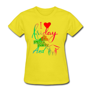 I love Friday Pizza Party And 3 People T-Shirt - BIZARRE FASHIONS