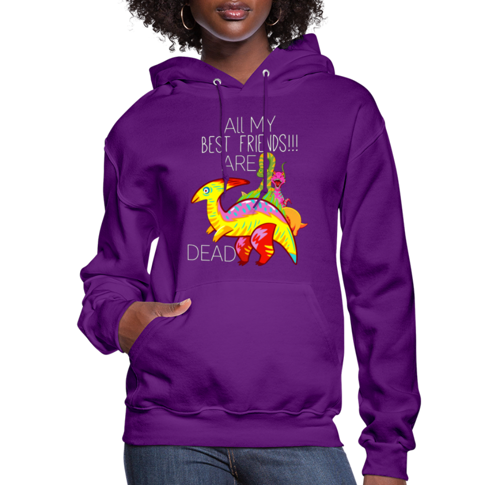 All My Best Friends Are Dead, dino hoodie, Dinosaur Hoodie - BIZARRE FASHIONS
