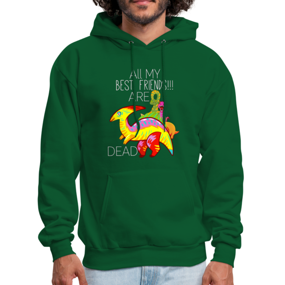 All My Best Friends Are Dead, dino hoodie Dinosaur Hoodie - BIZARRE FASHIONS