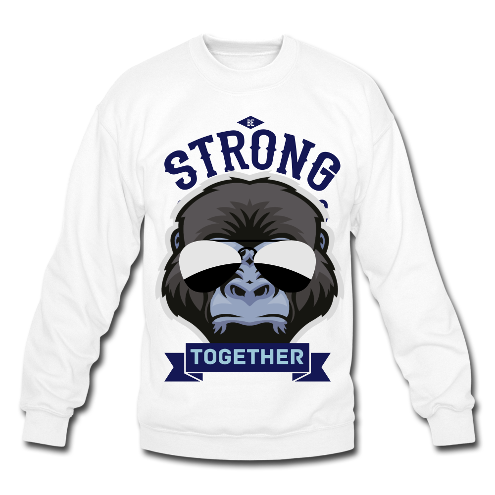 Apes together strong shirt, Crewneck Sweatshirt - BIZARRE FASHIONS