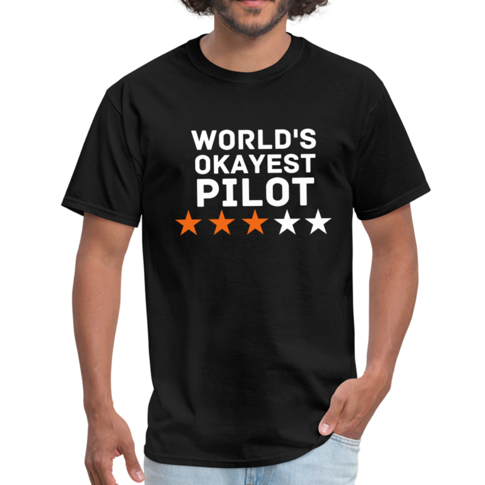 World's Okayest pilot T-Shirt - BIZARRE FASHIONS