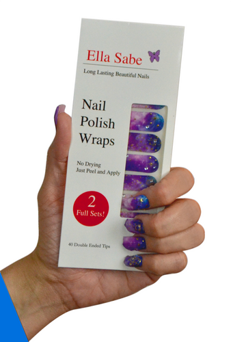 Purple Galaxy - Nail Polish Wraps