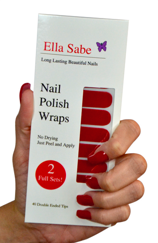 Nail Wraps - Stunning Red - Formal and Fun