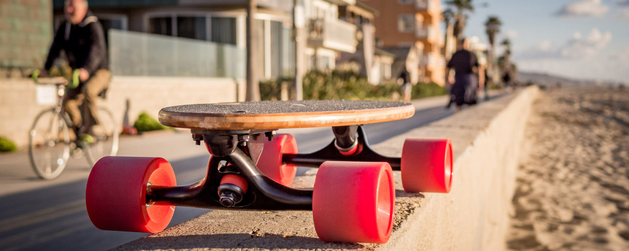 Eggboards Mini Longboard red - Skateboard Cruiser Beach Boardwalk
