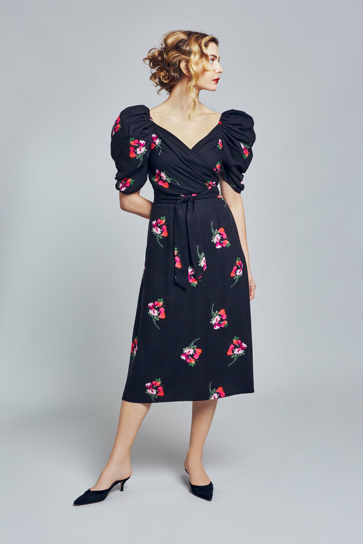 Black Floral Cotton
