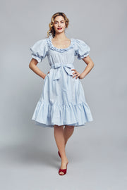 Light Blue Eyelet Cotton