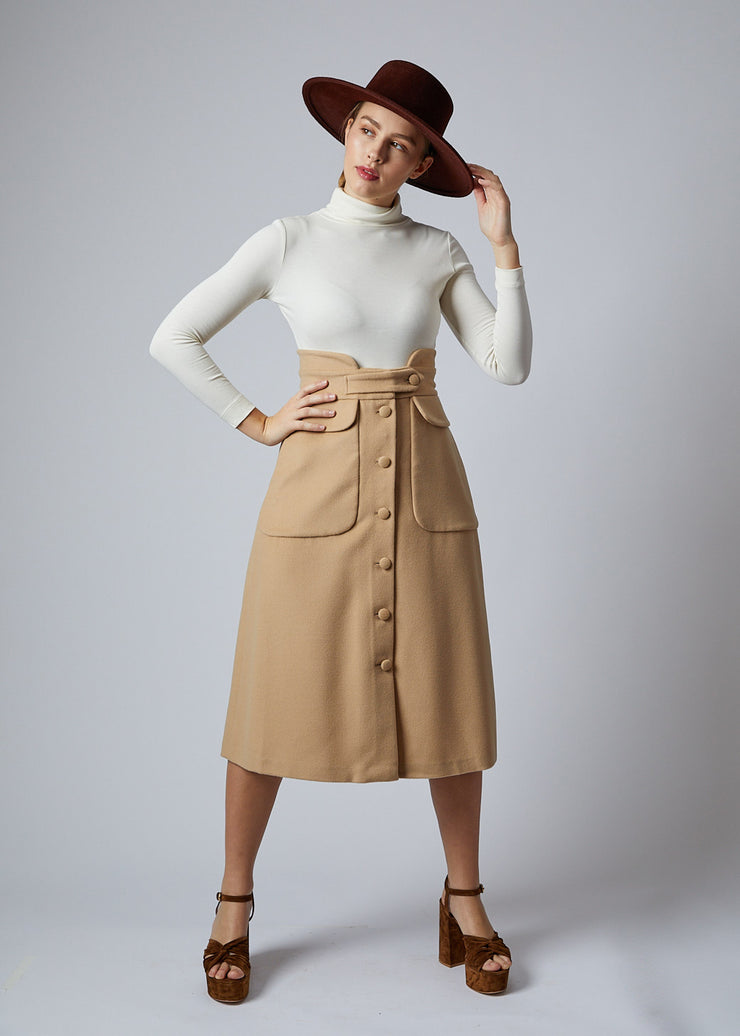 Wool Camilla Skirt