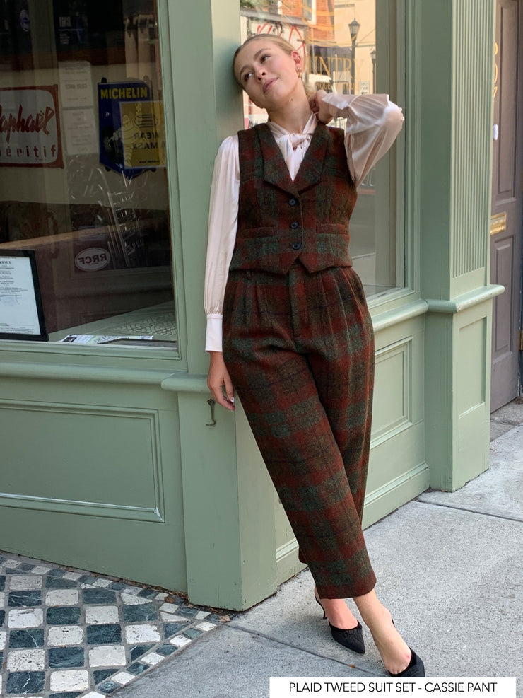 PRE-ORDER Frida Suit in Plaid Tweed - 3 Piece Set