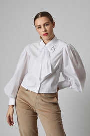 Marizela Top with Detachable Bow
