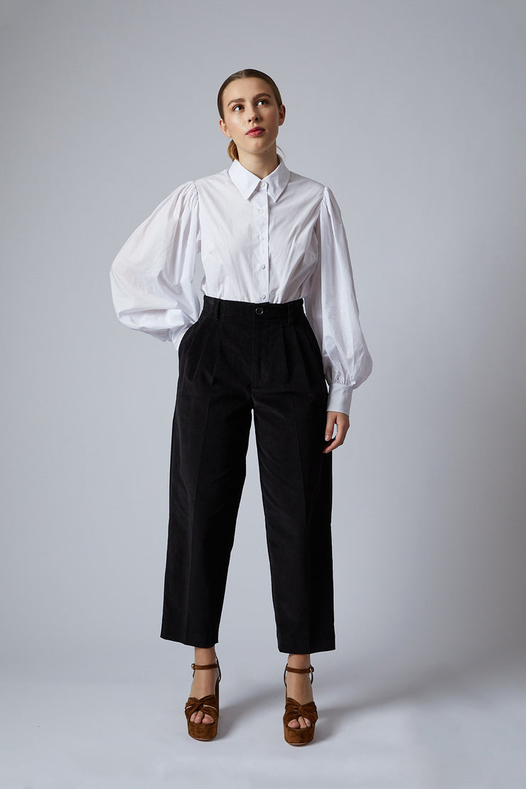 Black Corduroy Cassie Pants