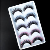 5 Pairs Fashion Ombre Color False Eyelashes