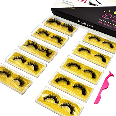 Haibara Natural False Eyelashes Bulk