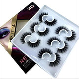 6 Pairs Fluffy False Eyelashes Natural Faux Mink Strip 3D Lashes Pack (MDF-12)
