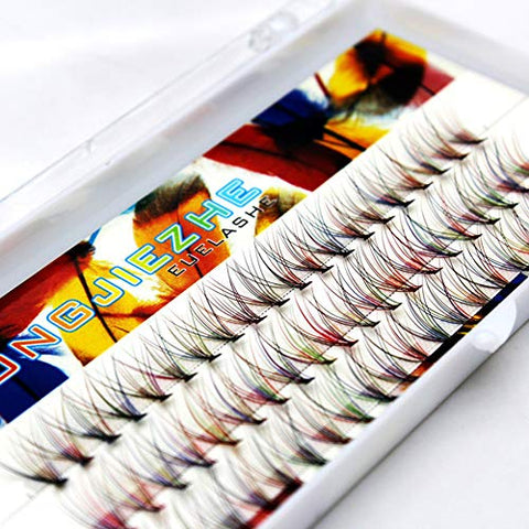 60Pcs Grafting 10 Roots Colorful Volume Eye Lashes Extensions