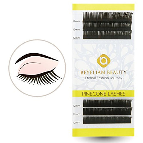 BEYELIAN Eyelash Extensions Dark Brown Lashes