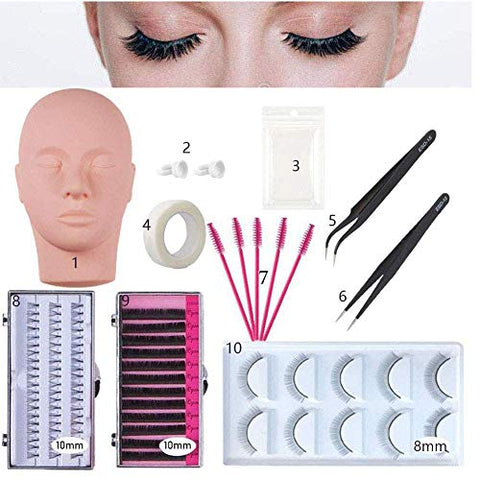 False Eyelashes Extension Practice Exercise Set for Professional